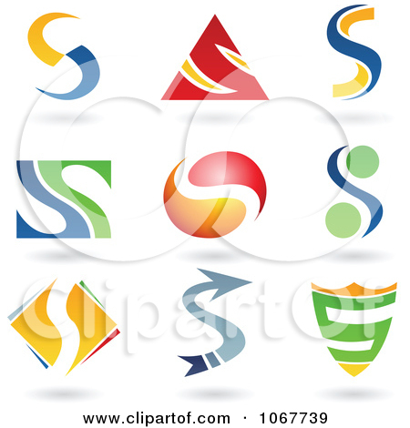 Free alphabet logo clipart clipart royalty free library Clipart Abstract Letter S Icons With Shadows 9 - Royalty Free ... clipart royalty free library