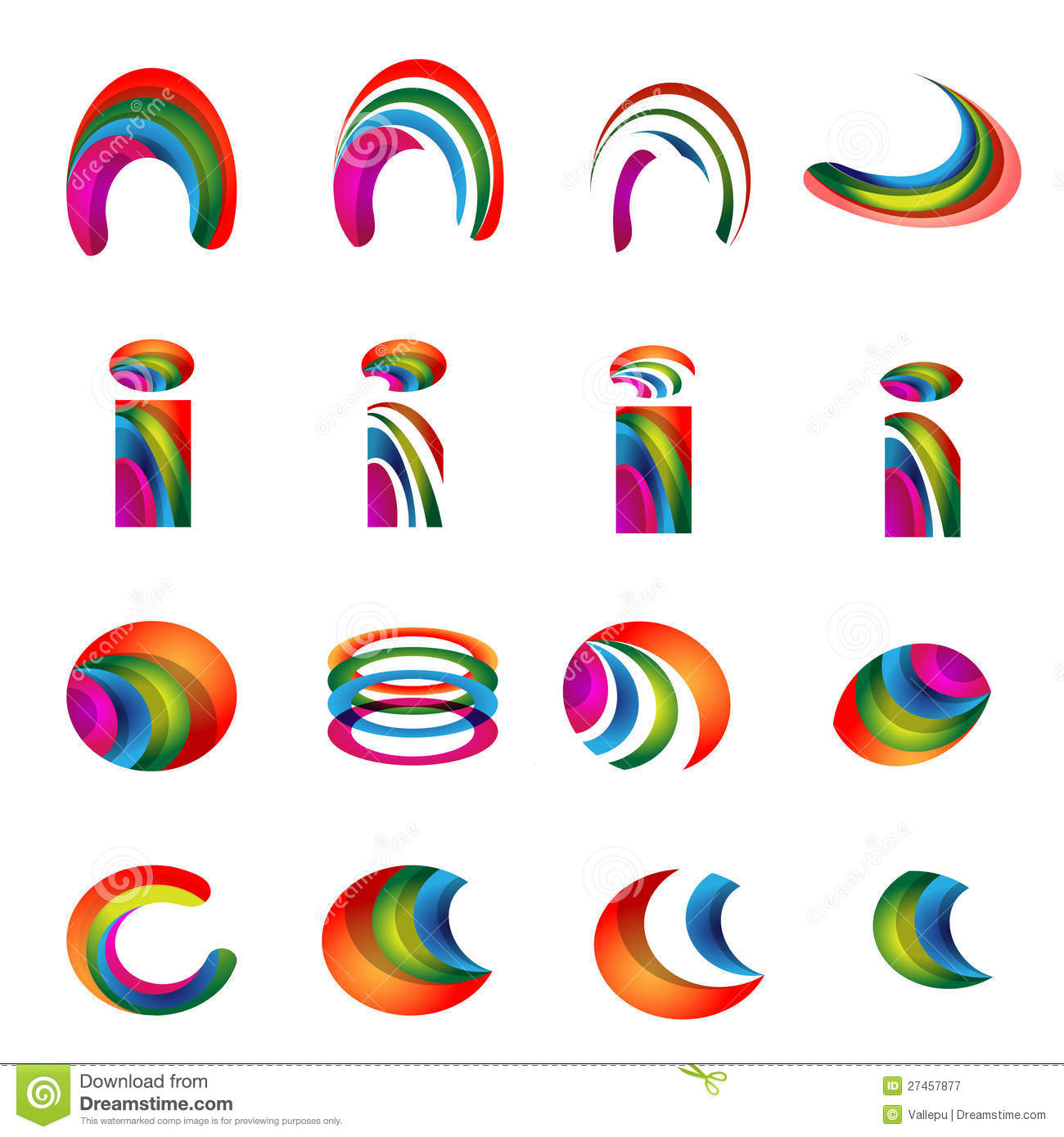 Free alphabet logo clipart graphic download Vector Alphabet Vibrant Logo Designs Version 2 Royalty Free Stock ... graphic download