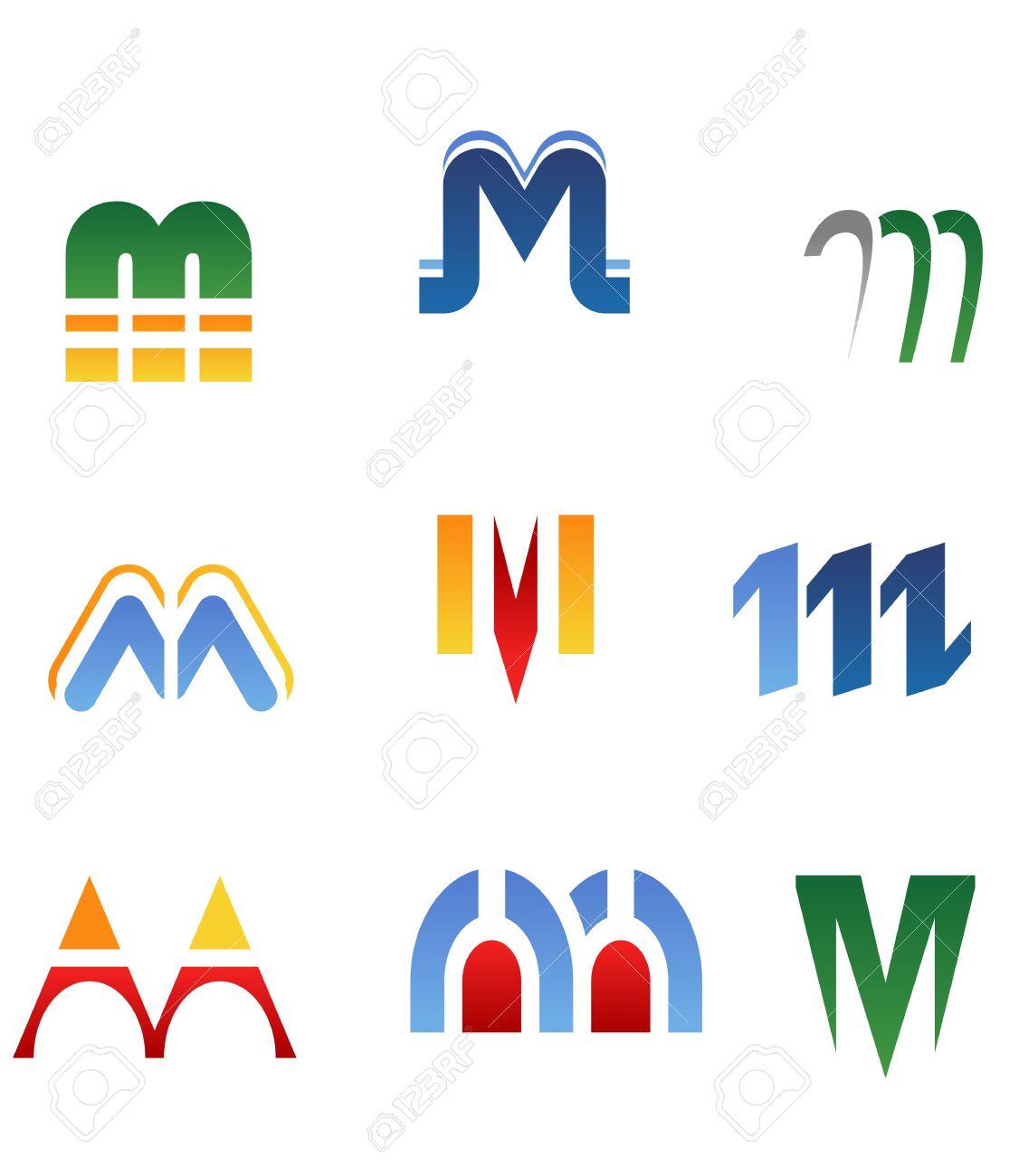Free alphabet logo clipart svg stock Set Of Alphabet Symbols And Elements Of Letter M Royalty Free ... svg stock
