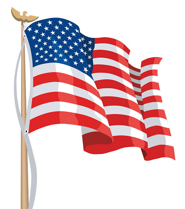 Us flag waving clipart freeuse American Flag Vector Free New Free American Flag Waving Download ... freeuse