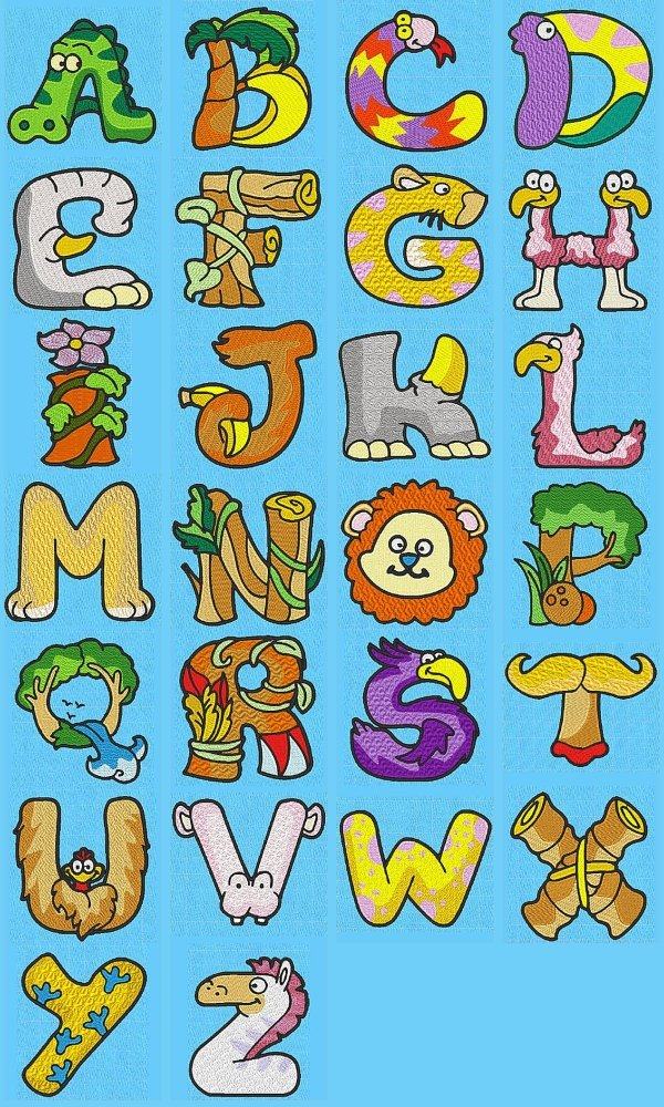 Free animal alphabet clipart vector transparent Animal Alphabet Letters Clipart - Clipart Kid vector transparent