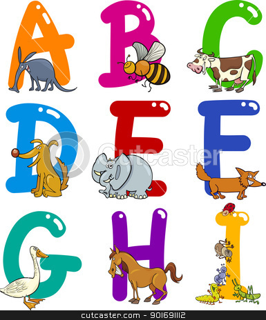 Free animal alphabet clipart black and white download Free animal alphabet clipart - ClipartFest black and white download