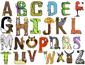 Free animal alphabet clipart vector transparent library 17 Best images about BOKSTAVER OG SKRIFT on Pinterest | How to ... vector transparent library