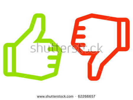 Free animal clipart thumbs up and down banner black and white download Thumbs Up Thumbs Down Stock Images, Royalty-Free Images & Vectors ... banner black and white download
