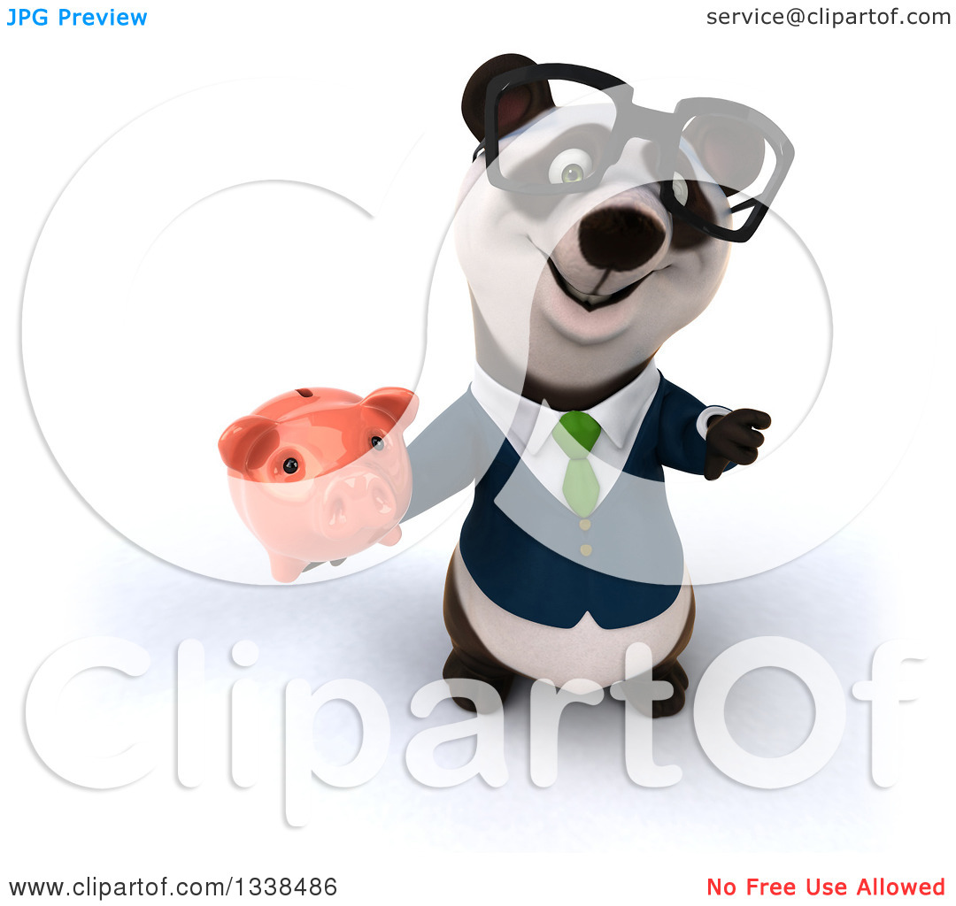 Free animal clipart thumbs up and down svg library download Clipart of a 3d Bespectacled Business Panda in a Green Tie ... svg library download
