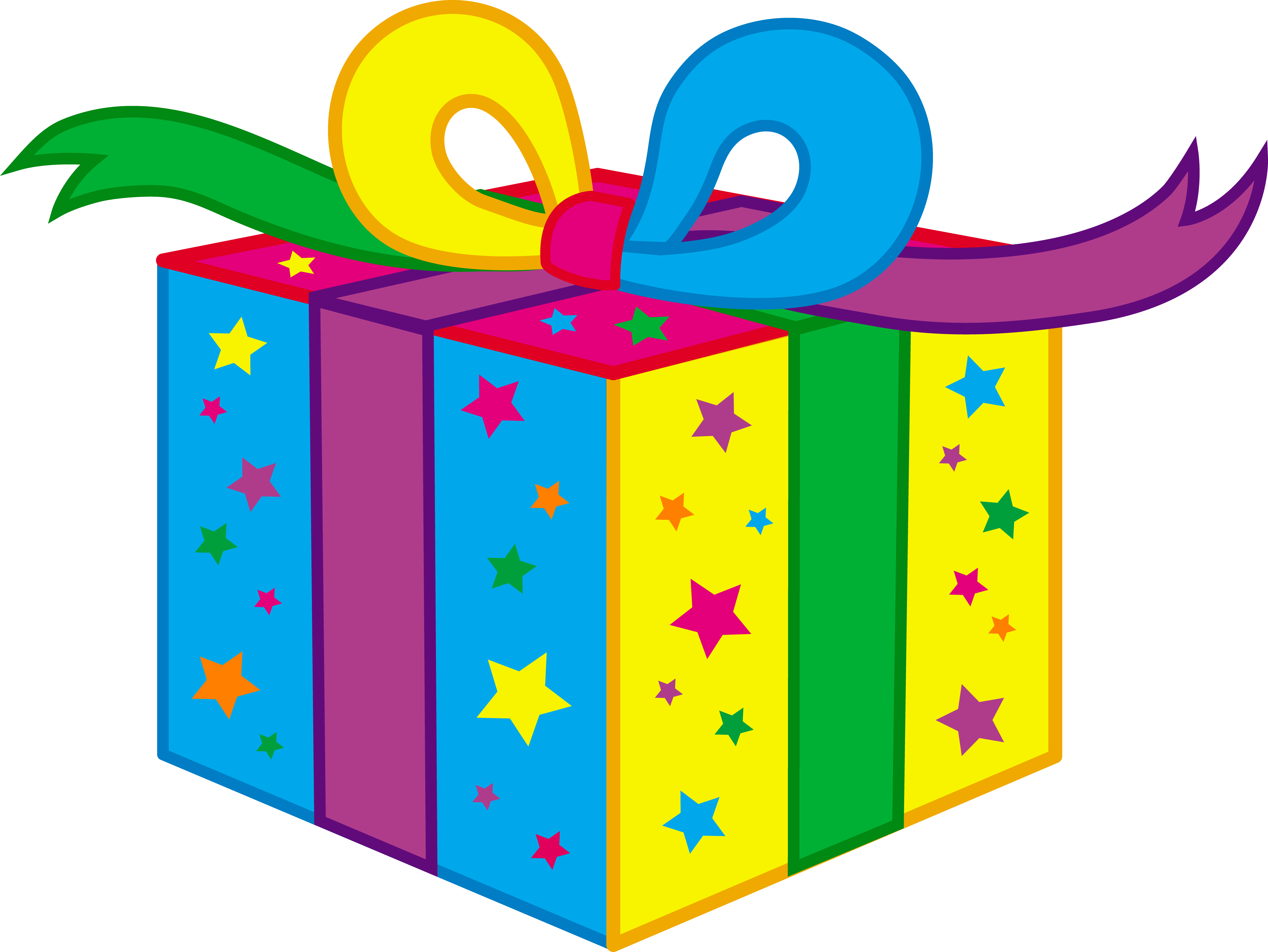 Free birthday animated clipart png stock Birthday Gift Clipart png stock