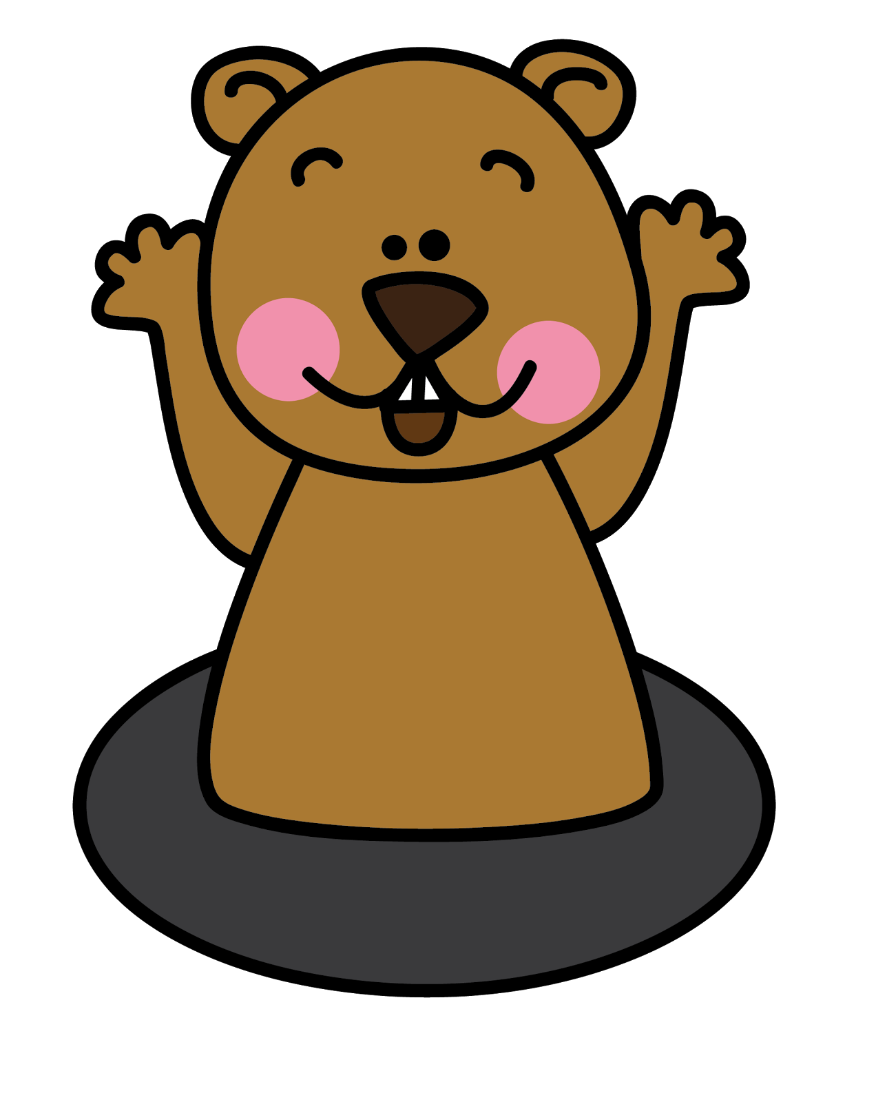 Free clipart groundhog day jpg freeuse library Free Groundhog Cliparts, Download Free Clip Art, Free Clip Art on ... jpg freeuse library
