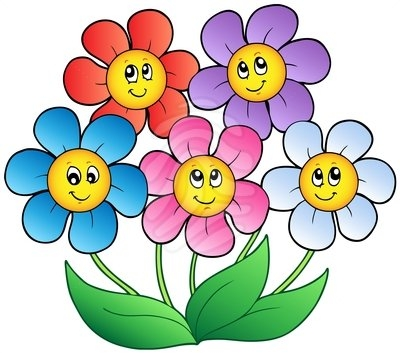 Flowers transparent clip arts. Free animated flower clipart