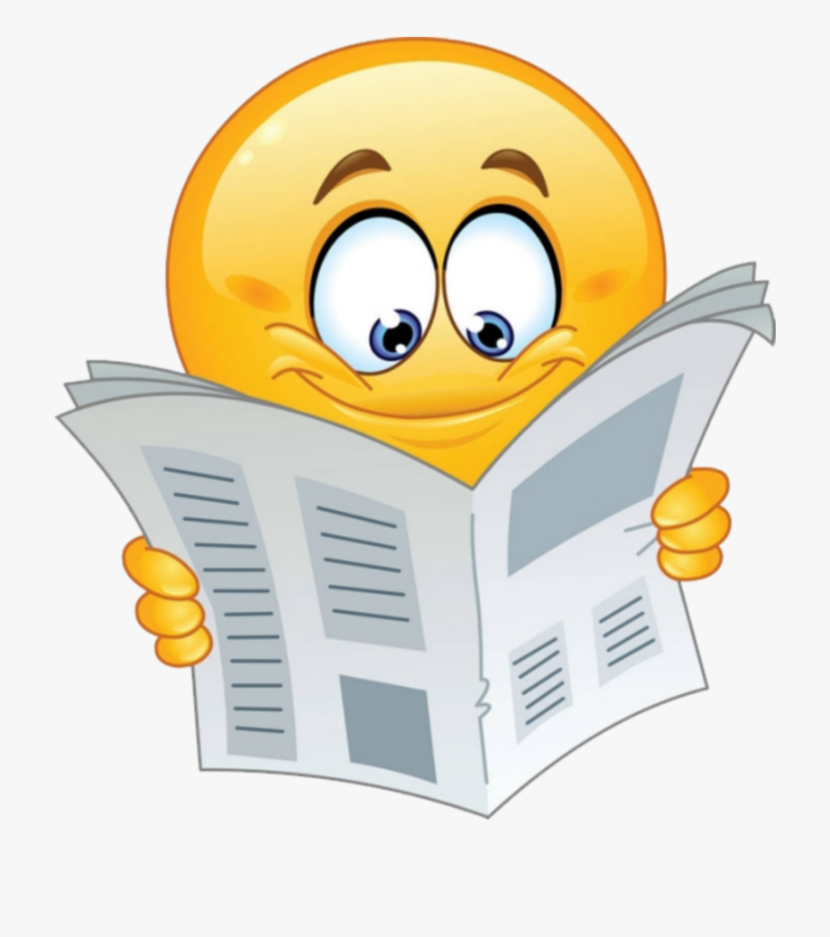 Free animated reading clipart free stock Reading Clipart Emoji - Emoji Reading Newspaper , Transparent ... free stock