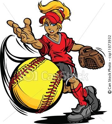 Free animated softball clipart clip stock animated pitching | Lauren Girouard 6-2 | Softball, Softball clipart ... clip stock