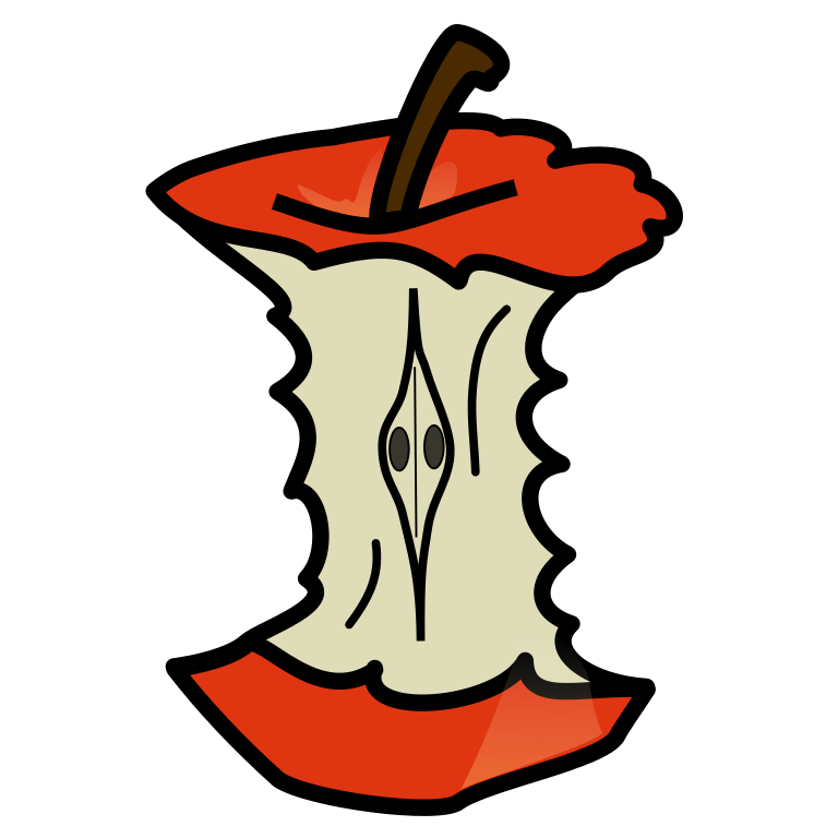 Free apple core clipart svg library library File:Tux Paint apple core 01.svg - Wikimedia Commons svg library library