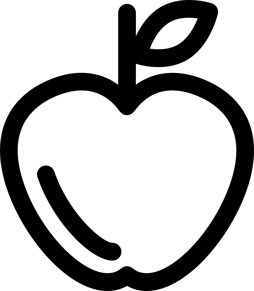 Free apple outline clipart black and white library Apple Outline Svg Png Icon Free Download (#43204) - OnlineWebFonts.COM black and white library