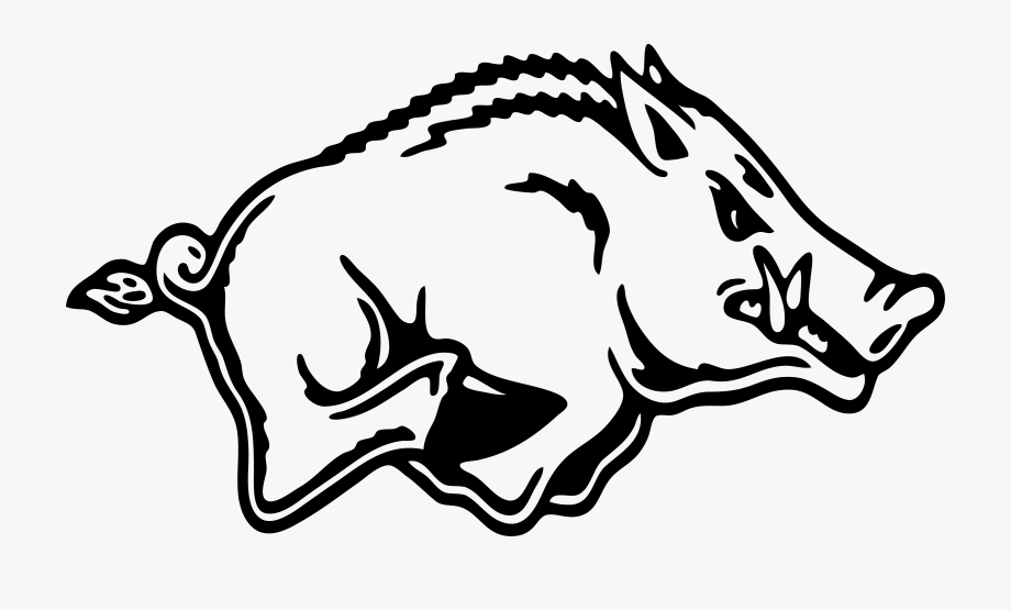 Razorbacks logo cliparts on. Free arkansas razorback clipart