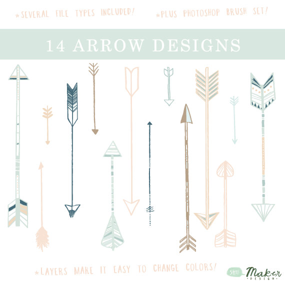 Free arrow clip art png royalty free Free vintage arrow clipart - ClipartFest png royalty free