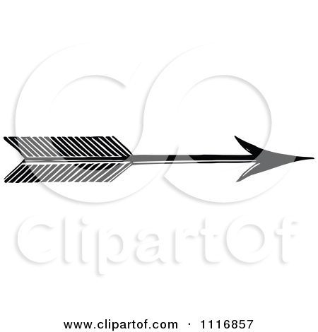 Free arrow clipart black white clip art black and white download Clipart Of A Retro Vintage Black And White Archery Arrow - Royalty ... clip art black and white download