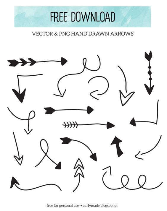 Free arrow clipart jpg vector download Free Download // Hand Drawn Arrows | Hand drawn and Arrow vector download