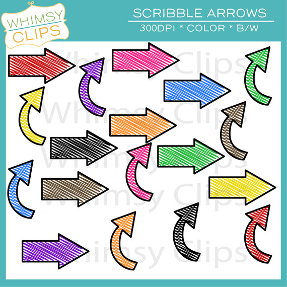 Free arrow clipart jpg transparent stock Free Scribble Arrows Clip Art , Images & Illustrations | Whimsy Clips transparent stock