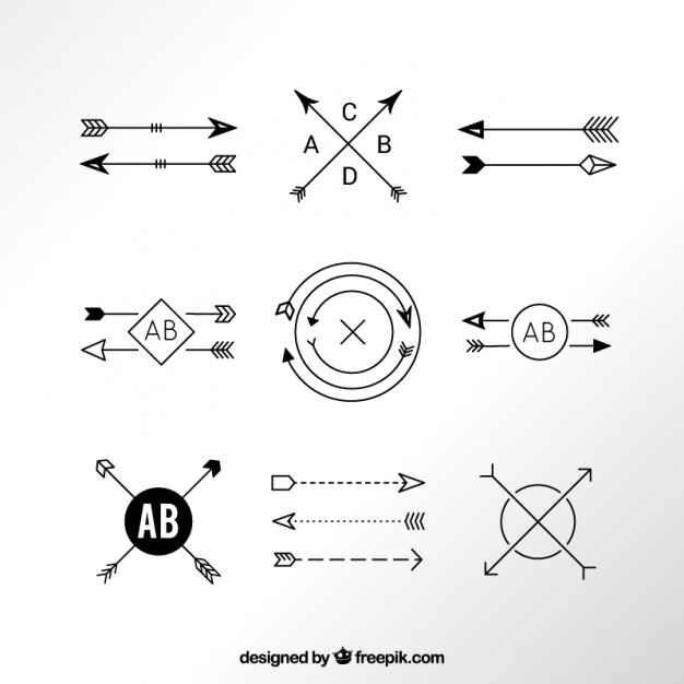 Free arrow graphics banner royalty free Hipster Vectors, Photos and PSD files | Free Download banner royalty free