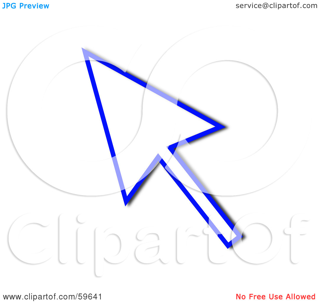 Free arrow outline clipart images picture royalty free library Royalty-Free (RF) Clipart Illustration of a Blue Pointing Cursor ... picture royalty free library