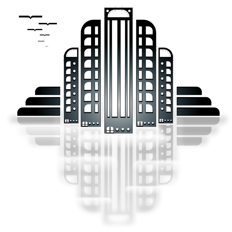 City tiothy . Free art deco number clipart