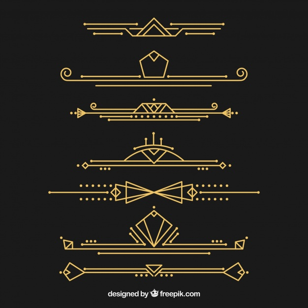 Black gold silver border clipart svg royalty free library Art Deco Vectors, Photos and PSD files | Free Download svg royalty free library