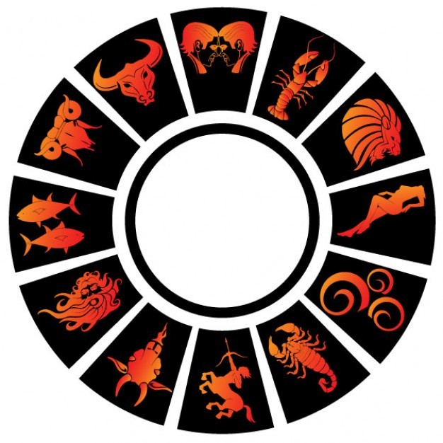 Zodiac signs vector clip. Free astrology clipart images