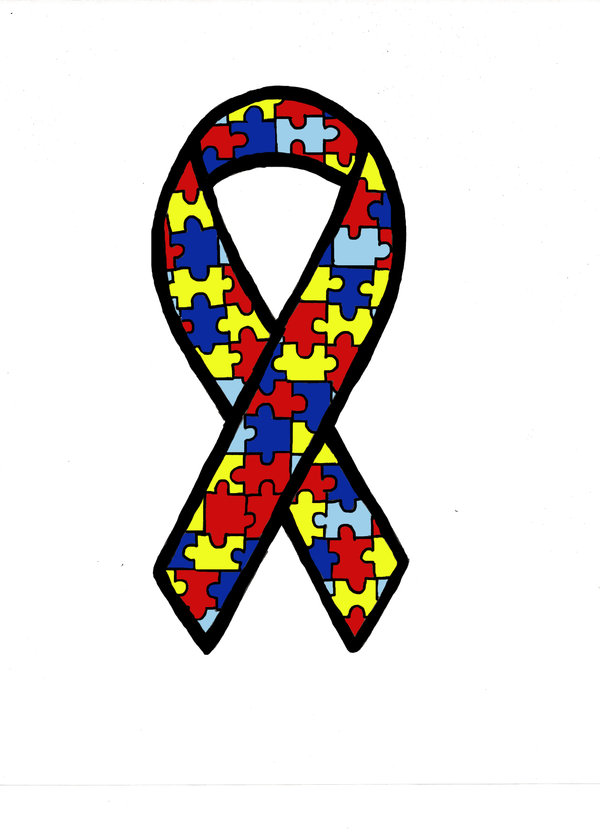 Free autism awareness ribbon clipart clip art black and white stock Autism Awareness Puzzle Ribbon Clip Art free image clip art black and white stock