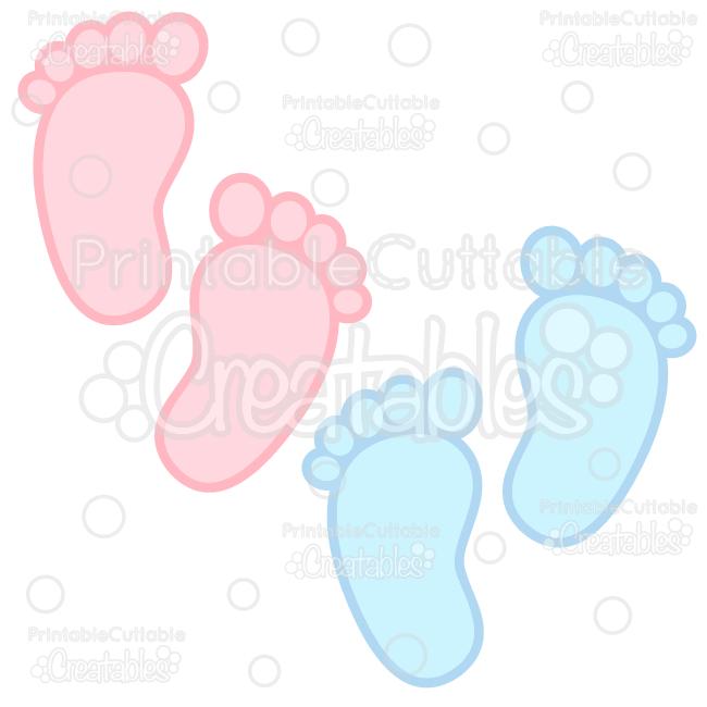 Free baby foot print clipart clip art black and white Baby Footprints Free SVG Cuts & Clipart clip art black and white