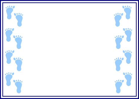 Free baby footprint border clipart. Pinterest