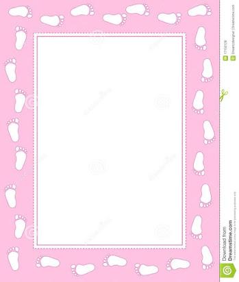 Footprints . Free baby footprint border clipart