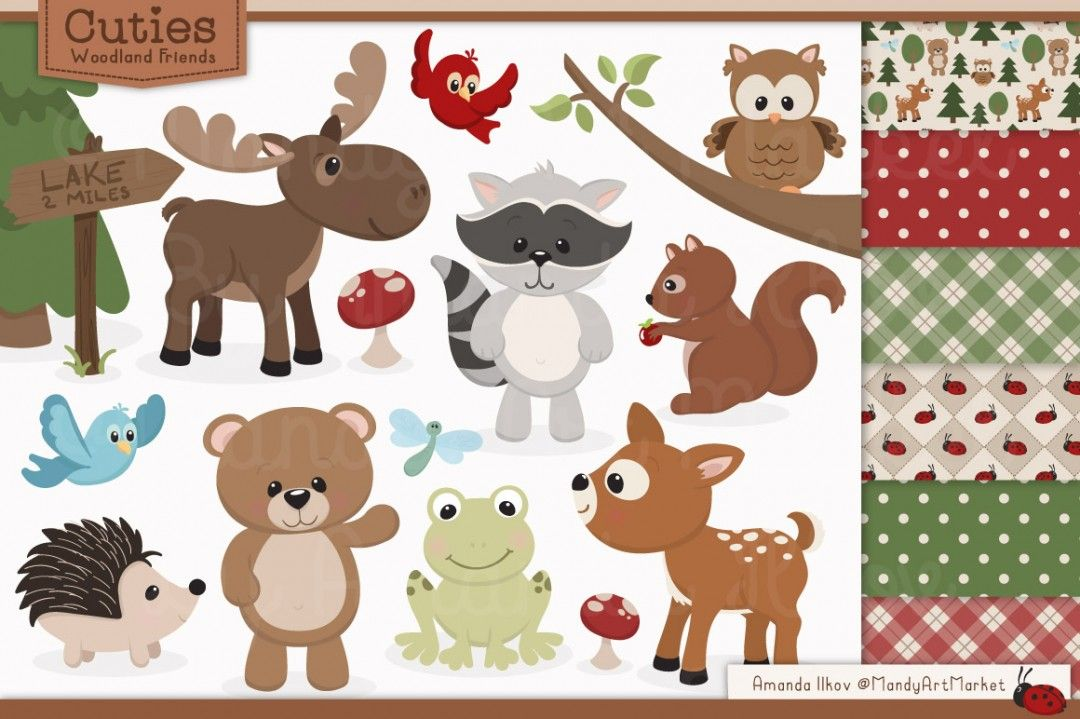 Free baby woodland animal clipart png library download Free Woodland Clipart … | printables | Owl clip art, Woodland ... png library download