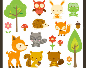 Free baby woodland animal clipart svg black and white download Free Woodland Cliparts, Download Free Clip Art, Free Clip Art on ... svg black and white download