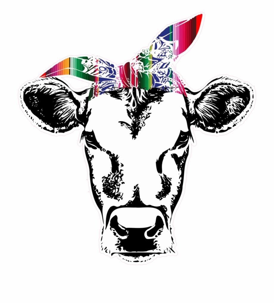 Boho cow skull clipart stock Boho Clipart Bull Skull - Cow Head With Bandana Free PNG Images ... stock