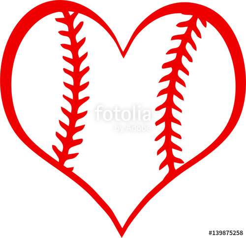 Free baseball heart clipart clip art transparent download Baseball Heart with Laces\