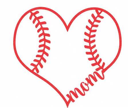 Free baseball heart clipart graphic black and white stock Baseball Mom | Baseball Heart Silhouette - Great free clipart ... graphic black and white stock
