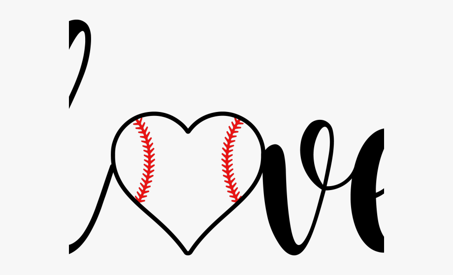 Free baseball heart clipart graphic transparent library Baseball Clipart Grandma - Love With Baseball Heart #311973 - Free ... graphic transparent library