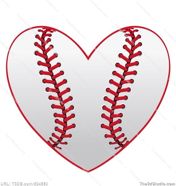 Free baseball heart clipart jpg library stock free softball clipart | Baseball heart Stock Photo Stock Image ... jpg library stock