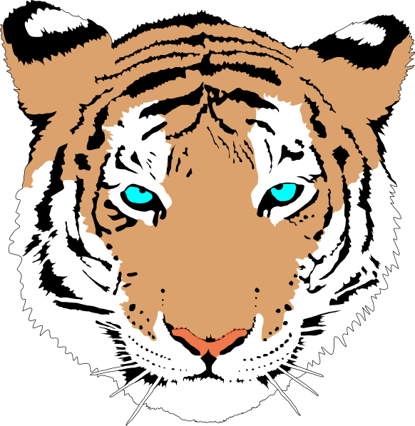Free basketball clipart tiger jpg library stock Tiger Face Clip Art | Clipart Panda - Free Clipart Images jpg library stock