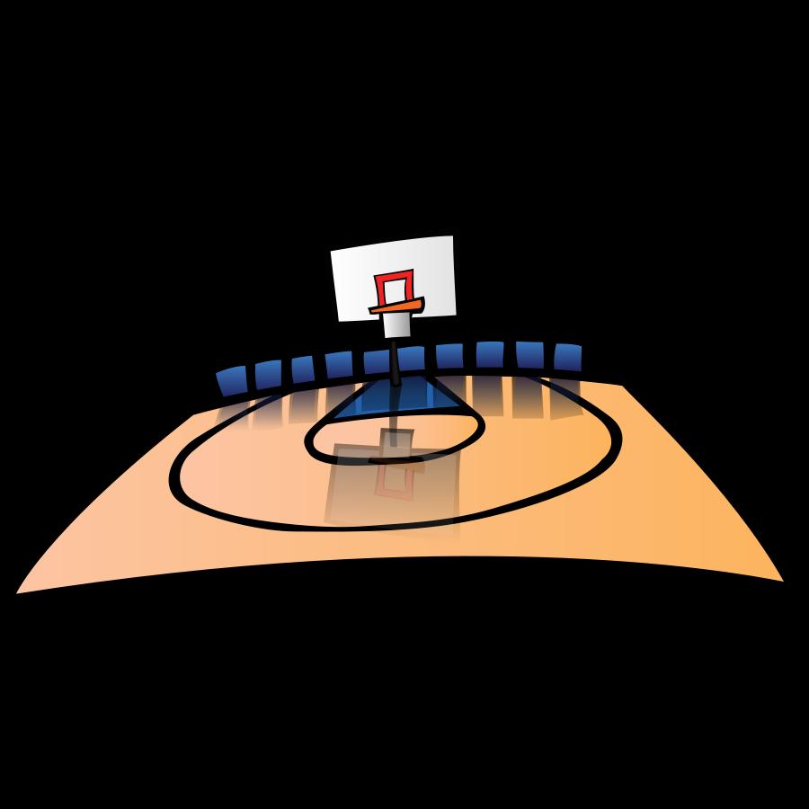 Free basketball referee clipart image black and white Tennis Court Clipart (67+) image black and white