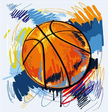 Free basketball vector clipart banner Vector clipart basketball graffiti free vector download (3,524 Free ... banner