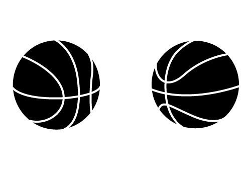 Free basketball vector clipart black and white stock Two Awesome Free Basketball Vectors for Download Now - SV Stock ... black and white stock
