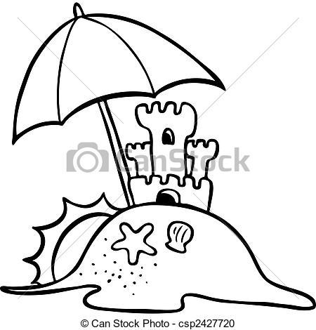 Free beach umbrella black and white clipart jpg svg royalty free library Beach umbrella clipart black and white 1 » Clipart Station svg royalty free library