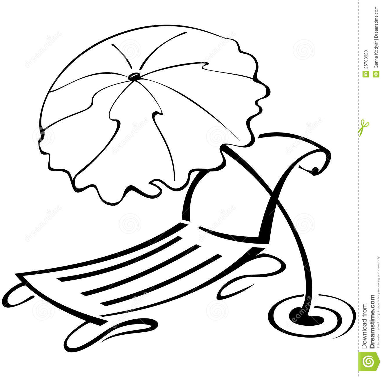 Free beach umbrella black and white clipart jpg. Download best