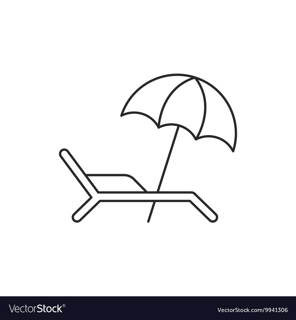 Free beach umbrella black and white clipart jpg png Beach umbrella icon with deckchair png