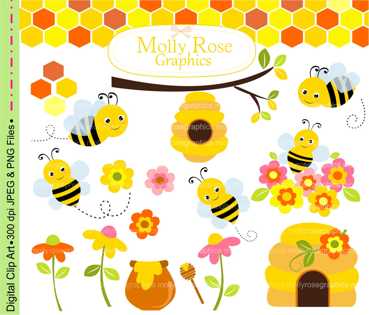 Free bee clipart for commercial use clipart freeuse download Bumble bee clip art | Etsy clipart freeuse download