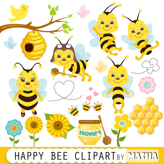 Free bee clipart for commercial use clip art black and white download Free bee clipart for commercial use - ClipartFest clip art black and white download