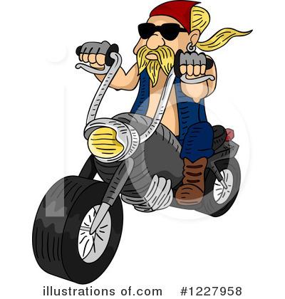 Free biker clipart. Illustration by bnp design