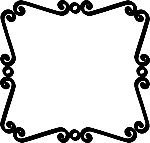 White scroll border clipart picture library library Black And White Flower Border | Free download best Black And White ... picture library library