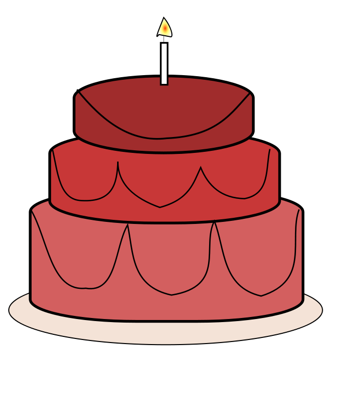 Free birthday cake clipart images transparent library Red Cake Clipart transparent library