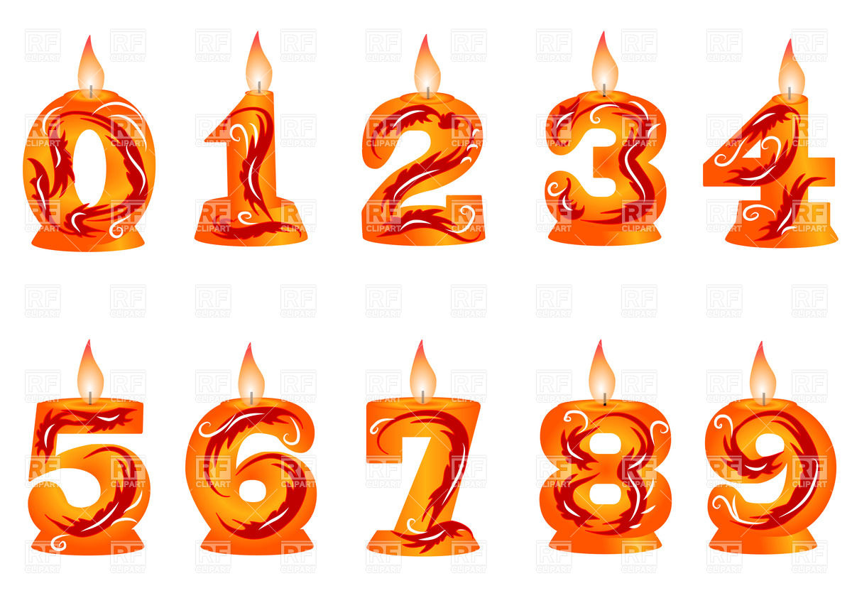 Free birthday candle clipart clip free stock Birthday number candles clipart - ClipartFest clip free stock
